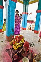 Kalijai Temple at Kalijai island, Chilika Lake, Orissa, India
