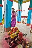 Kalijai Temple at Kalijai island, Chilika Lake, Orissa, India