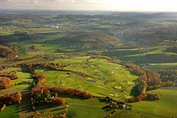 Aerial picture, Velbert Gut Kuhlendahl golfclub, Neviges, Velbert, Ruhr area, North Rhine-Westphalia, Germany, Europe