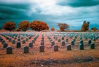 The Clark Air Base Cemetery in Angeles City, Pampamga, Philippines
