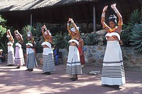 traditional dance show at Gold Reef City, South Africa, Johannesburg