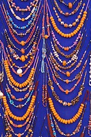 Beaded necklaces for sale, Marrakech, Morocco