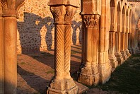 Arches, cloister of San Juan de Duero 13th century near Soria  Castilla-Leon, Spain