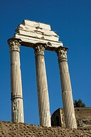 Temple of Castor and Pollux in the roman forum rome
