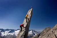 Klettern an der Salbitnadel über der Göscheneralp UR