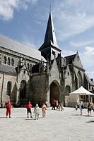 church St. Aubin, France, Brittany, Loire Atlantique, Guerande