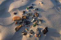 Sand and stones, Karlshagen, Usedom Island, Mecklenburg-Western Pomerania, Germany, Europe