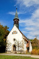Historic 15th century village church in the the Neuhausen ob Eck open-air museum, Tuttlingen administrative district, Baden-Wuerttemberg, Germany, Eur...