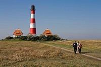 Lighthouse Westerhever, Germany, Schleswig_Holstein, Wadden Sea NP