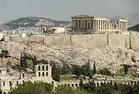 Acropolis with the Parthenon on top Athens, Greece, Europe