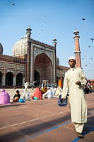 Jama-Masjid-Mosque, Delhi, Uttar Pradesh, India, Asia