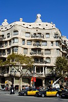 Casa Milá, La Pedrera, catalan for The Quarry, residential building by Catalan architect Antoni Gaudi on the Passeig de Gracia, Eixample District, Bar...
