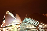 Travel photograpy from the L ´Hemisferic, Ciudad de Las Artes y Las Ciencias, city of Valencia in Spain