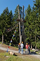 Blomberg Ropes Course, Bad Toelz, Upper Bavaria, Bavaria, Germany, Europe
