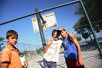 kids boys children playing in Saltanahmet, Istanbul, Turkey