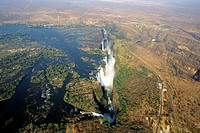 zimbabwe, Aerial View of the Victoria Falls