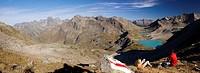 Jöriseen beim Flüelapass GR mit Silvrettagebiet