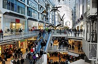Toronto Eaton Centre, one of the largest shopping malls in North America, Toronto, Ontario, Canada, North America