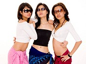 Three cool women in sunglasses
