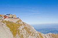 Restaurant, Bergrestaurant Saentis, at the summit of Saentis Mountain, Switzerland, Europe