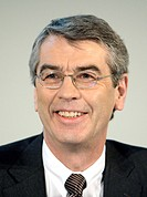 Fritz Oesterle, chief executive of the Celesio AG, during the press conference on financial statements on March 12th 2008 in Stuttgart, Baden-Wuerttem...