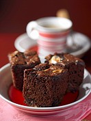 Brownies and coffee cup