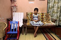 sri lanka, My driver´s daughter in her house, Bemmulla