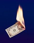 Geld verbrennen,brennen,Dollar,Feuer,Finanzen,Finanzierung,Finanzwelt,Geld,Hundert_Dollarschein,Landeswaehrung,Wirtschaft,Waehrung,100_Dollarschein,10...