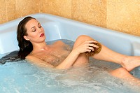 woman in jacuzzi, beauty, bath