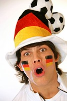 German football fan, portrait