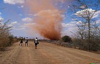 cyclone in the Chalbi desert, Kenya