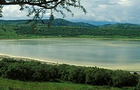 Nyamunuka crater lake, Uganda, Queen Elizabeth National Park