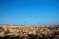 hot_air balloons over Goereme, Turkey, Cappadocia, Goereme