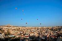 hot_air balloons over Goereme, Turkey, Cappadocia, Goereme