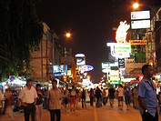 nightlife at the Khao San Road, Thailand, Bangkok