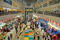 Sheikh_Rashid_Terminal of Dubai International Airport with Duty Free Shops, United Arab Emirates, Dubai