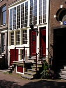 detail of a canal_house in Amsterdam, Netherlands, Amsterdam
