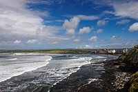 Lahinch Bay, Bay at the west coast of Ireland, Ireland, Clarens, Lahinch