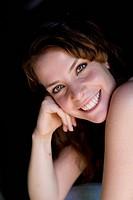 nice dark_haired women smiling