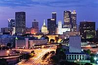 Buildings at dusk, Downtown Atlanta, Atlanta, Georgia, USA