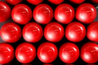 Billiard many red balls rows background pattern texture