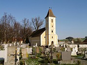 monastery Stift Vorau, cemetery with church, Austria, Vorau