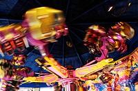carousel at the amusement park Wiener Prater, Austria, Vienna