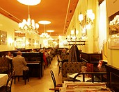 luxurious interior of Cafe Weimar, Austria, Vienna