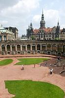 Dresden castle Zwinger, Germany, Saxony, Dresden