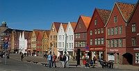 The UNESCO World Herritage Site Bryggen in Bergen, Norway, Bergen