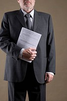 Businessman with papers