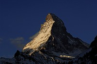 Sunrise on the Matterhorn, Zermatt, Wallis or Valais, Switzerland, Europe