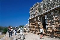 Temple of the Masks, Kabah, Kaba, Riviera Maya, Mayan Riviera, Yucatan, Mexico