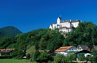 Hohenaschau Castle, Aschau, Priental Valley, Chiemgau, Bavaria, Germany, Europe